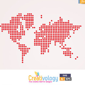 Free Vector World Map - vector #209383 gratis