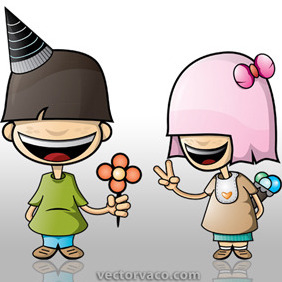 Vector Character Couple - vector gratuit #209443