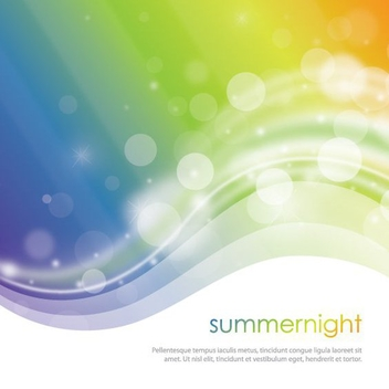 Summer Night - vector gratuit #209463