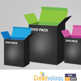 Free Vector Dvd Box - vector gratuit #209473