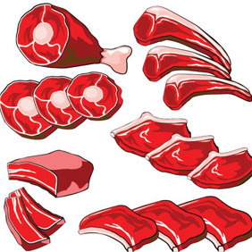 Red Beef Vector - vector #209513 gratis