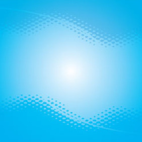 Dotted Design In Blue Background Free Vector - Kostenloses vector #209623