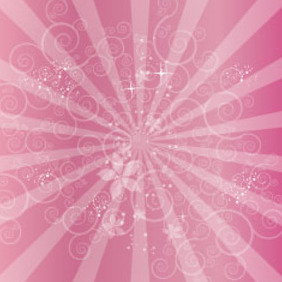 Swirls In Pink Abstract Art Free Vector Graphic - бесплатный vector #209813