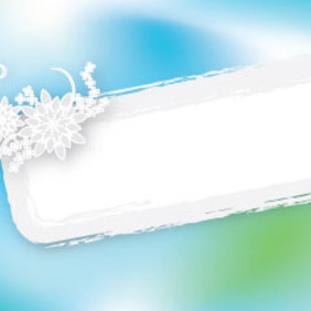 Grunge Banner In Blue Green Background - vector gratuit #209843