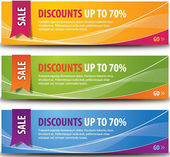 Discount Banners - Free vector #209883