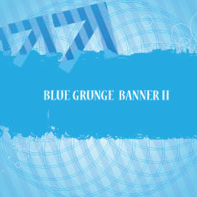 Blue Banner Grunge Free Art Design - Free vector #209923
