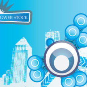 Blue City Free Vector Background - Free vector #209933