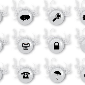 12 Social Free Vector Art Graphic - vector gratuit #209943
