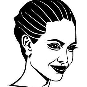 Angelina Jolie Vector - бесплатный vector #209993