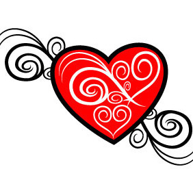 Heart Tribal Vector Image - бесплатный vector #210113