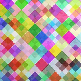 Colourful Mosaic Background - vector gratuit #210153