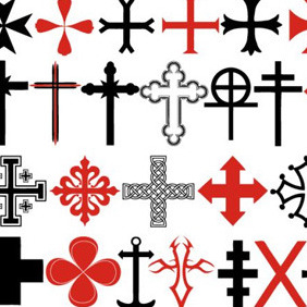 Cross Elements - vector gratuit #210173