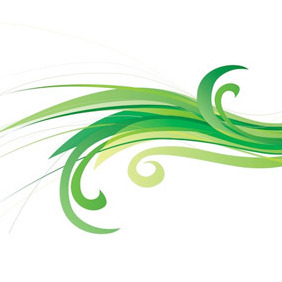 Green Abstract Background Vector - vector gratuit #210253