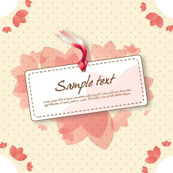 Cute Vintage Sign - Free vector #210313