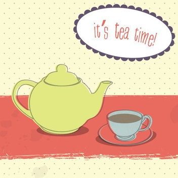 Tea Time - vector #210333 gratis