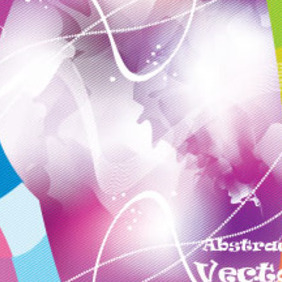 Blur White In Colored Background Vector - vector #210393 gratis