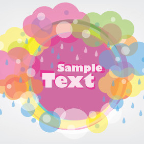Rainy Banner And Clouds - vector gratuit #210403