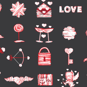 Free Love Vector Elements Pack - vector gratuit #210503