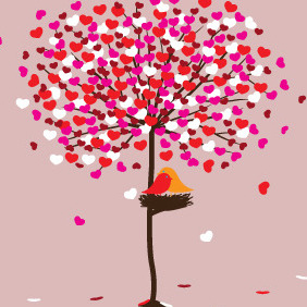 The Tree Of Love - vector gratuit #210513