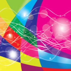 Colored Pink Blue Green Free Graphic - vector #210573 gratis