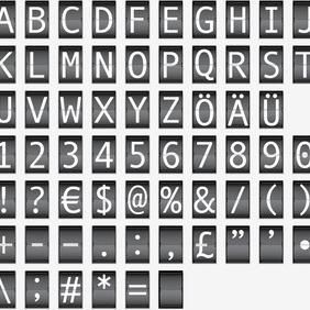 Airport Flip Board Style Letters - Free vector #210633