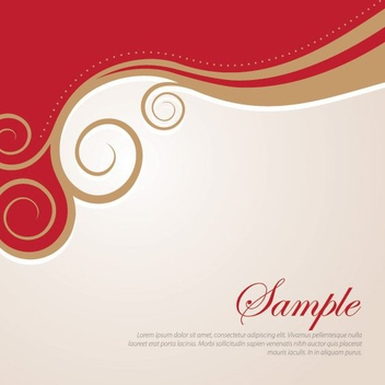 Golden Swirls - vector #210713 gratis