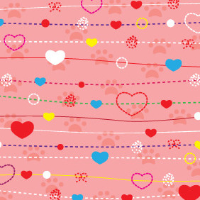 Valentines Day Pink Background - vector gratuit #210743
