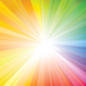 Multicolour Sunbeam Vector - vector gratuit #210753