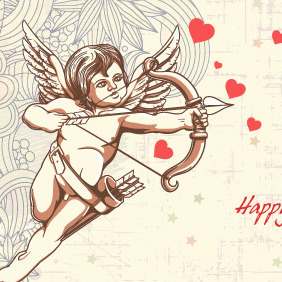 Free Valentine's Day Vector Illustration - Free vector #210763