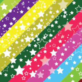 Colored Background Free White Stars - бесплатный vector #210883