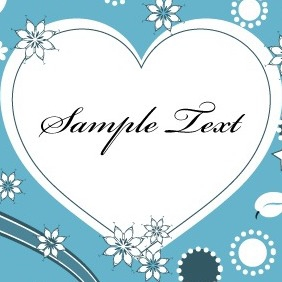 Lovely Valentine Heart Greeting Card Vector - vector gratuit #210893