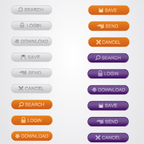Web Buttons - vector gratuit #210993