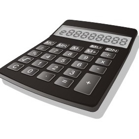 Basic Calculator In 3D - vector gratuit #211023