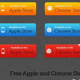 Free Apple And Chrome Store Vector Button - Free vector #211033
