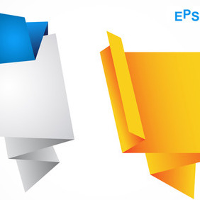 Origami Speech Bubbles - Free vector #211043