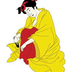 Traditional Japanese Geisha - vector gratuit #211213