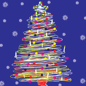 Spiral Christmas Tree 2012 - vector gratuit #211503