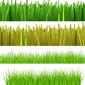 Four Grass Elements - vector gratuit #211513