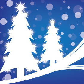 Christmas Night - Free vector #211653