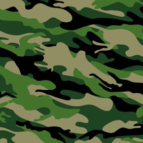 Forest Camouflage Pattern - Free vector #211713