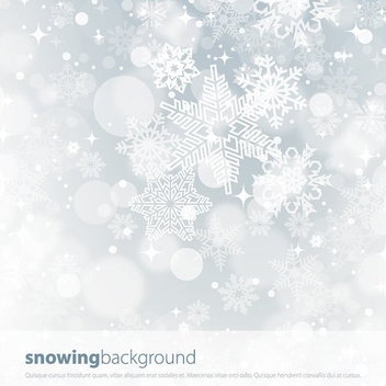 Snowing Background - vector #211723 gratis