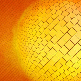 Orange Background With Many Squares - vector gratuit #211773