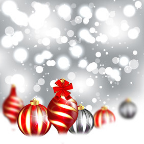 Christmas Abstract Background Design - vector #211793 gratis