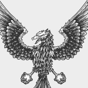 Weekly Freebie #3: Vector Engraved Griffin - Free vector #211813