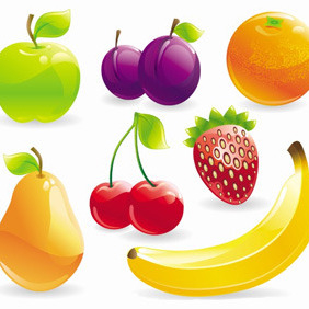 Fruits And Berries Vector - vector gratuit #211823
