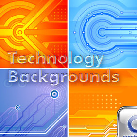 Technology Backgrounds - vector gratuit #211843