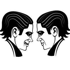 Face To Face - vector gratuit #211893