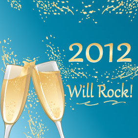 2012 Deserves A Toast - Free vector #211913