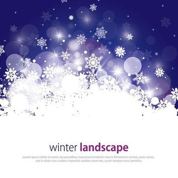 Winter Landscape - vector #211973 gratis