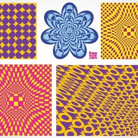 Psychedelic Graphic Pack - Free vector #212073